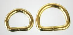 Brass plated D ring thumbnail